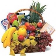 Cesta gourmet y de frutas